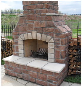 New Outdoor Fireplace in St. Louis